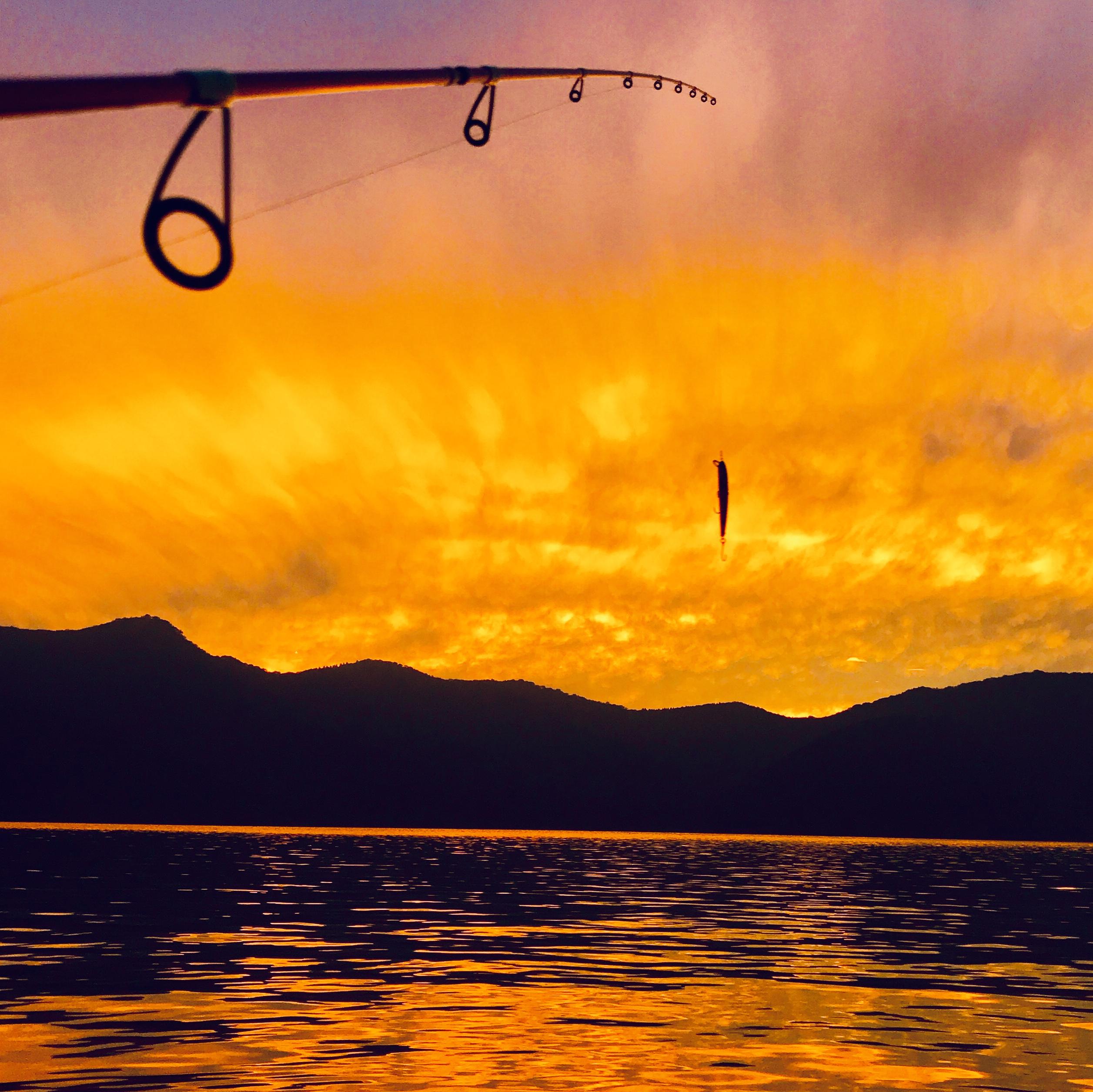 芦ノ湖の夕焼け