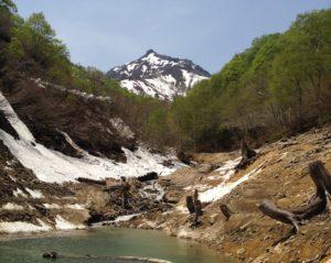 銀山湖の小さいインレット