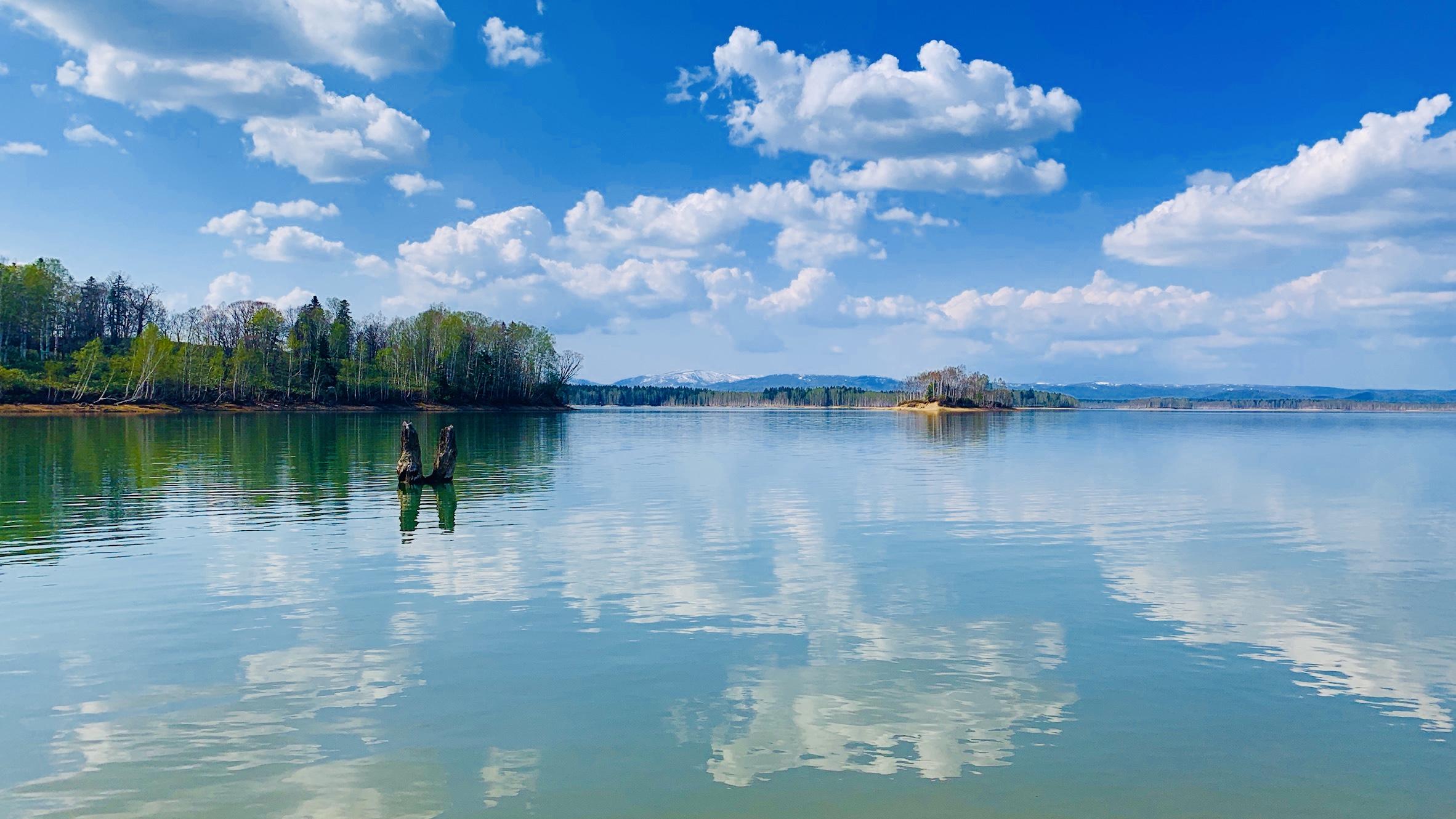 朱鞠内湖の景色