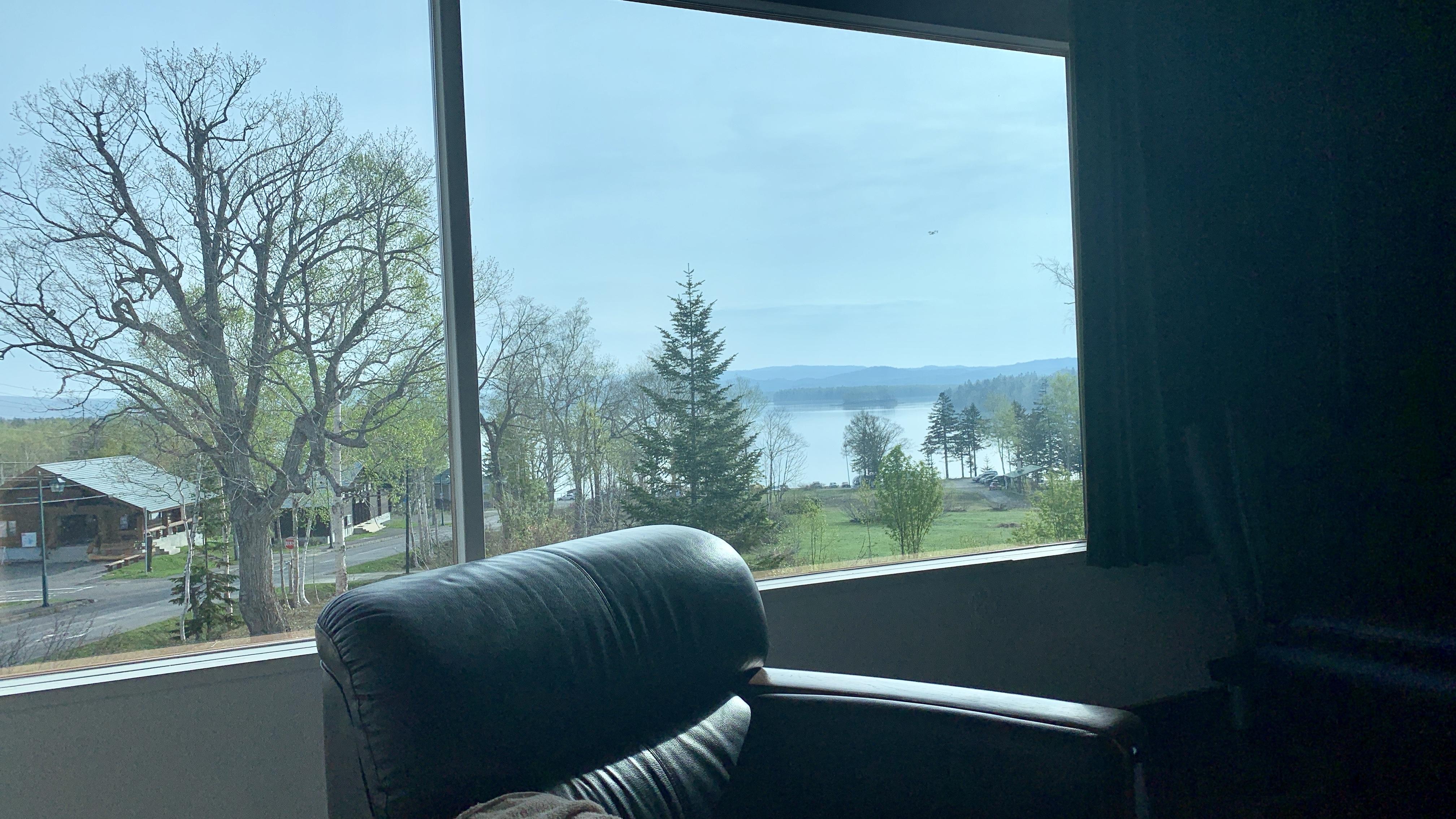 レークハウスしゅまりない大部屋から見る朱鞠内湖