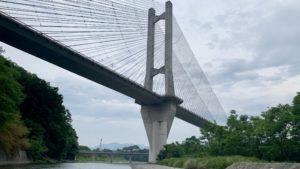 荒川本流に架かる橋