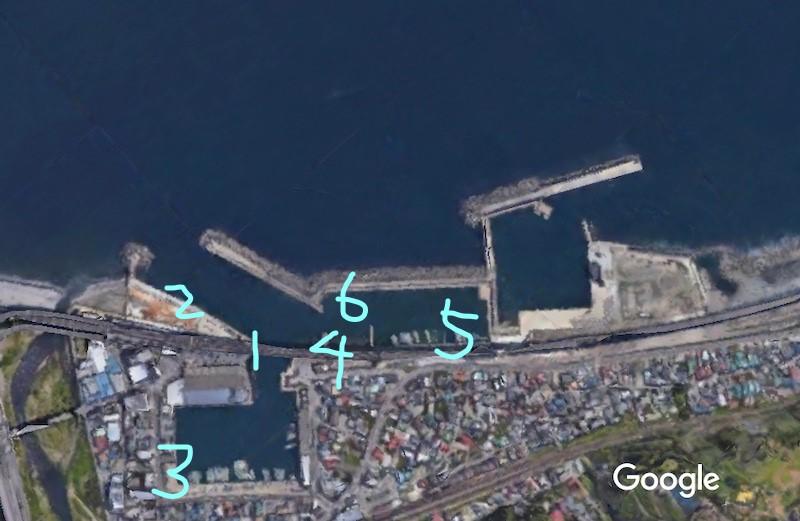 早川港マップ
