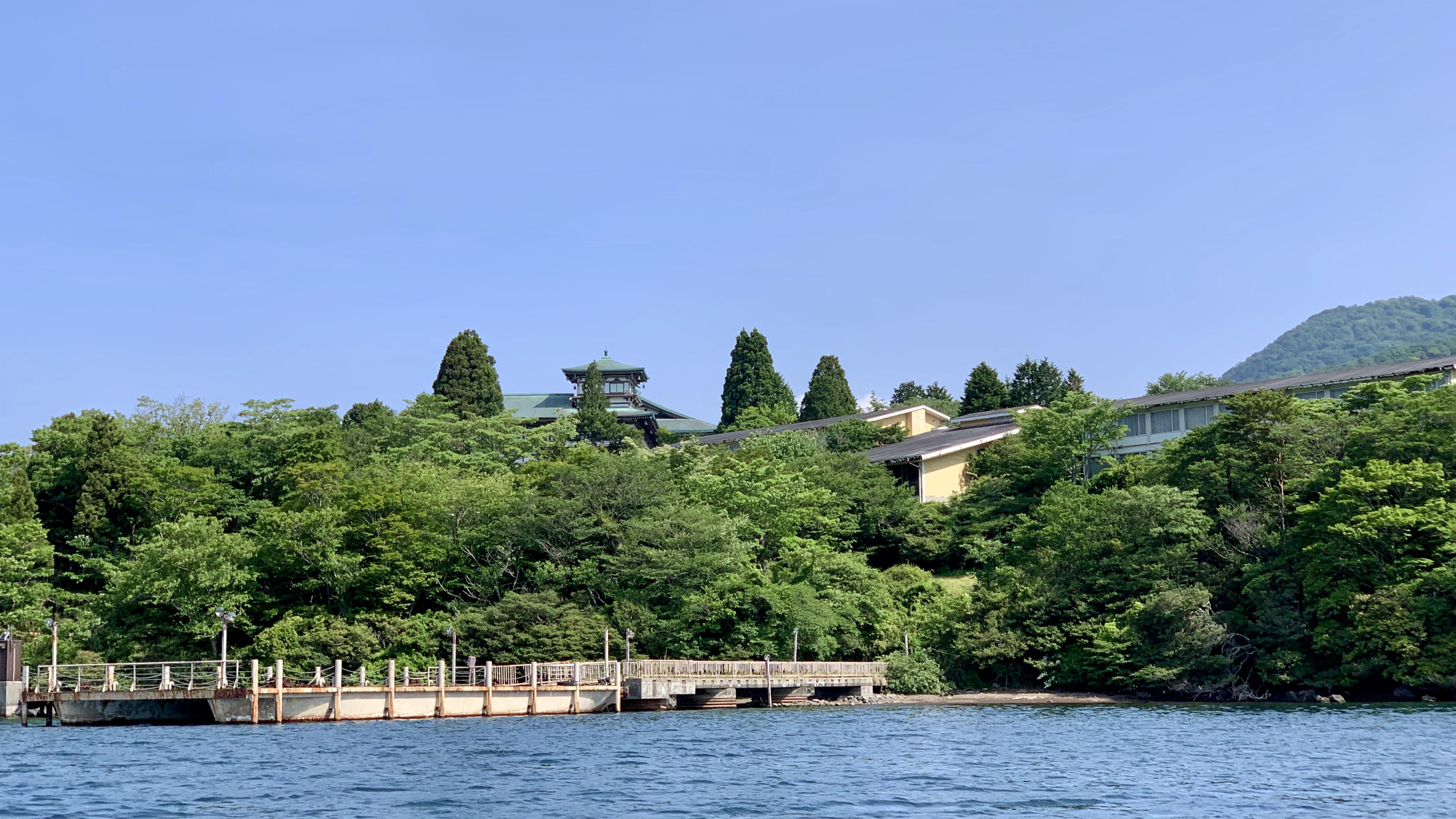 芦ノ湖 龍宮殿