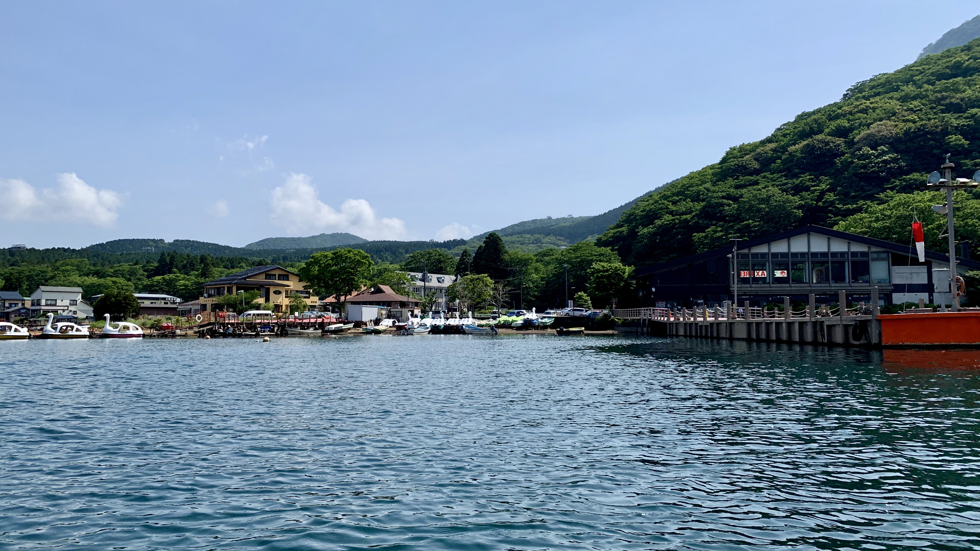 芦ノ湖湖尻