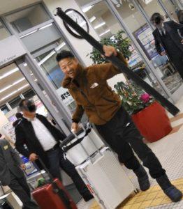 稚内空港にて 杉岡
