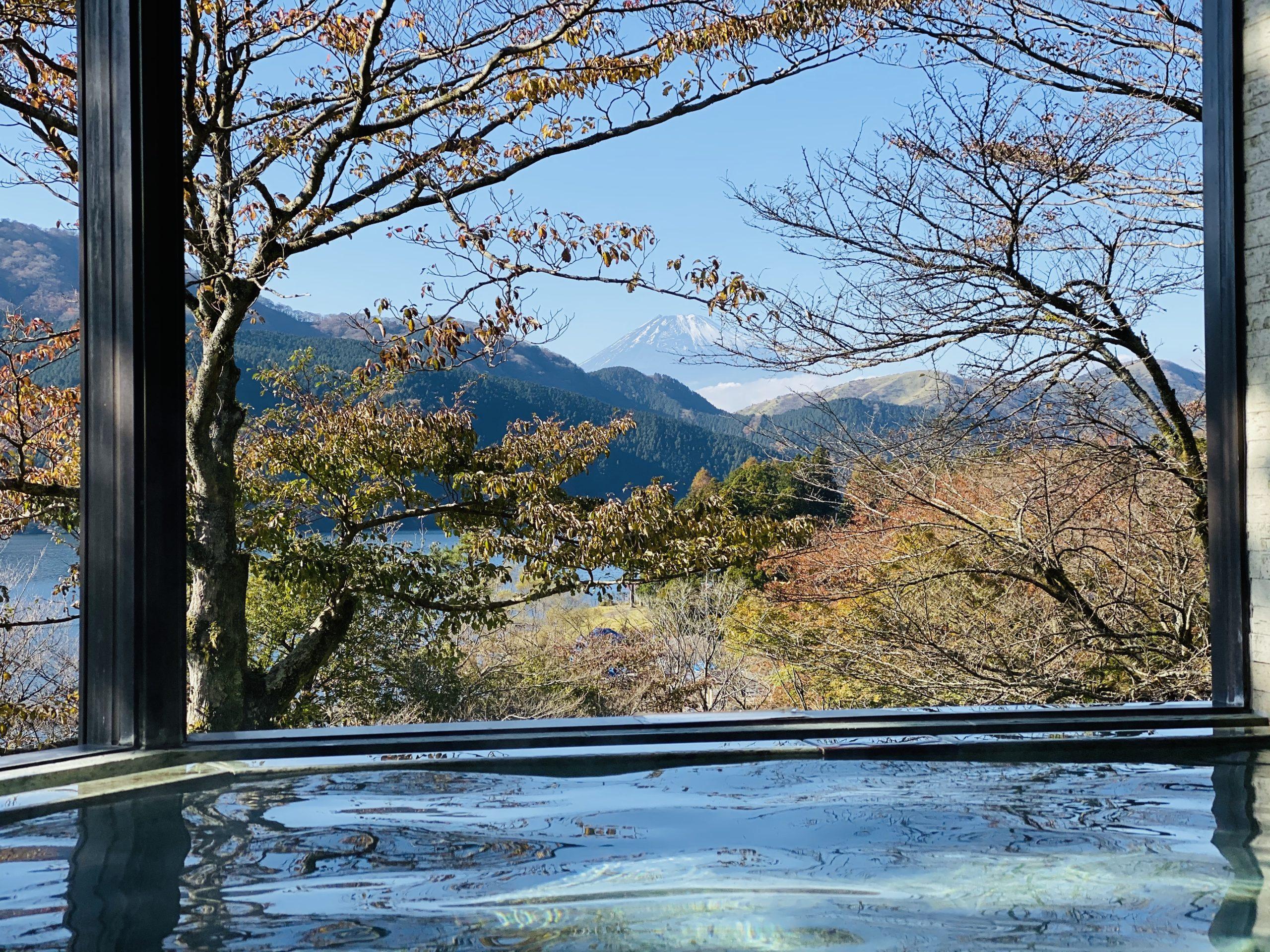 芦ノ湖 龍宮殿の露天風呂