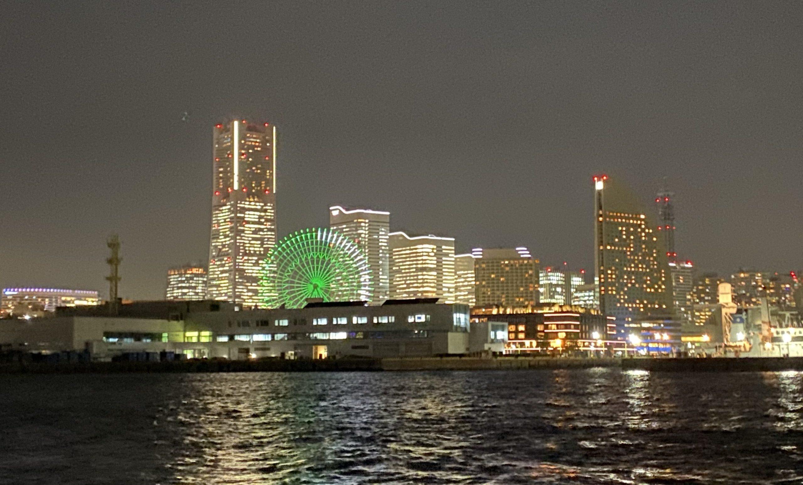 ボートメバルで横浜の夜景