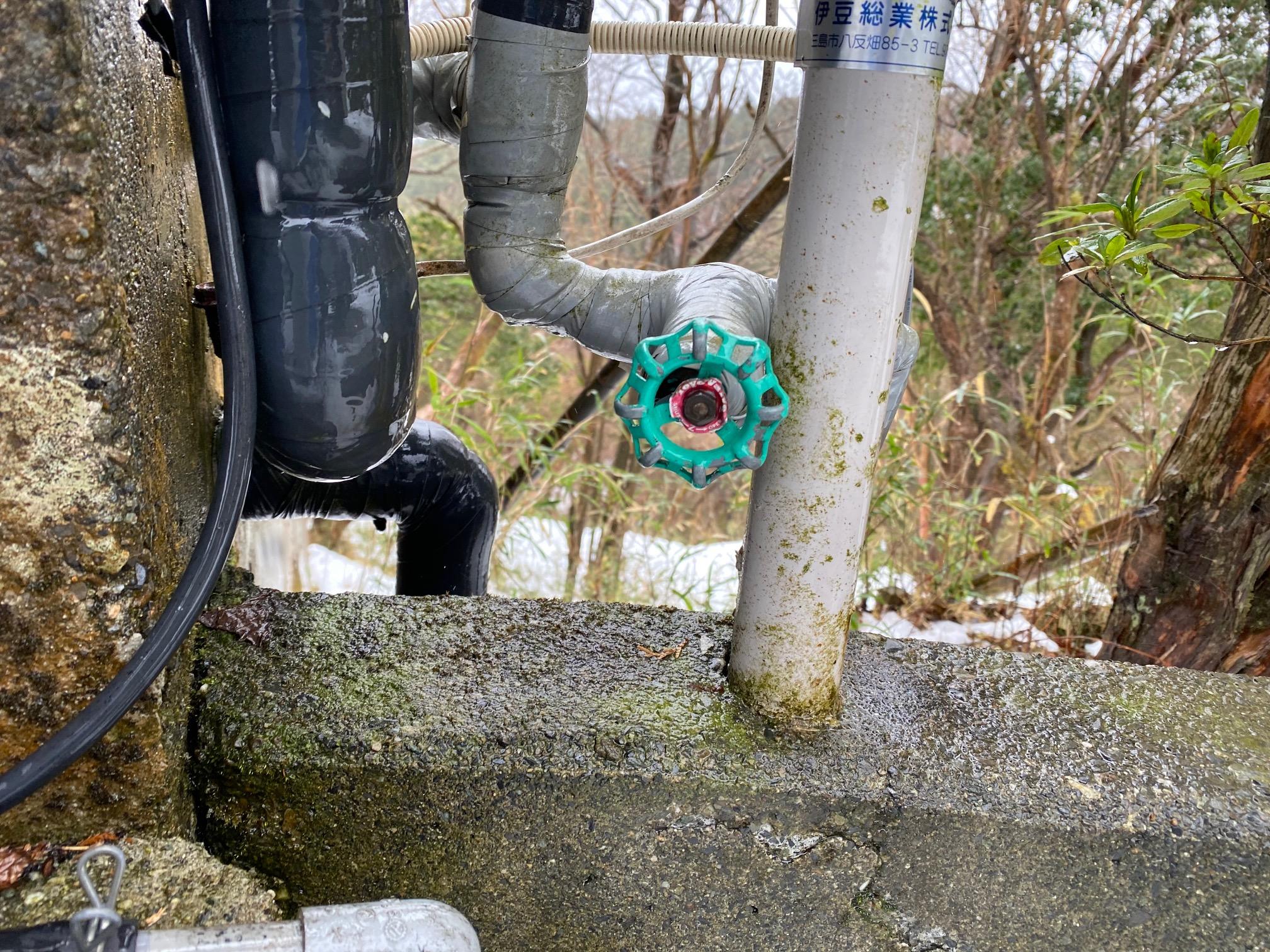 給湯管の水抜き栓