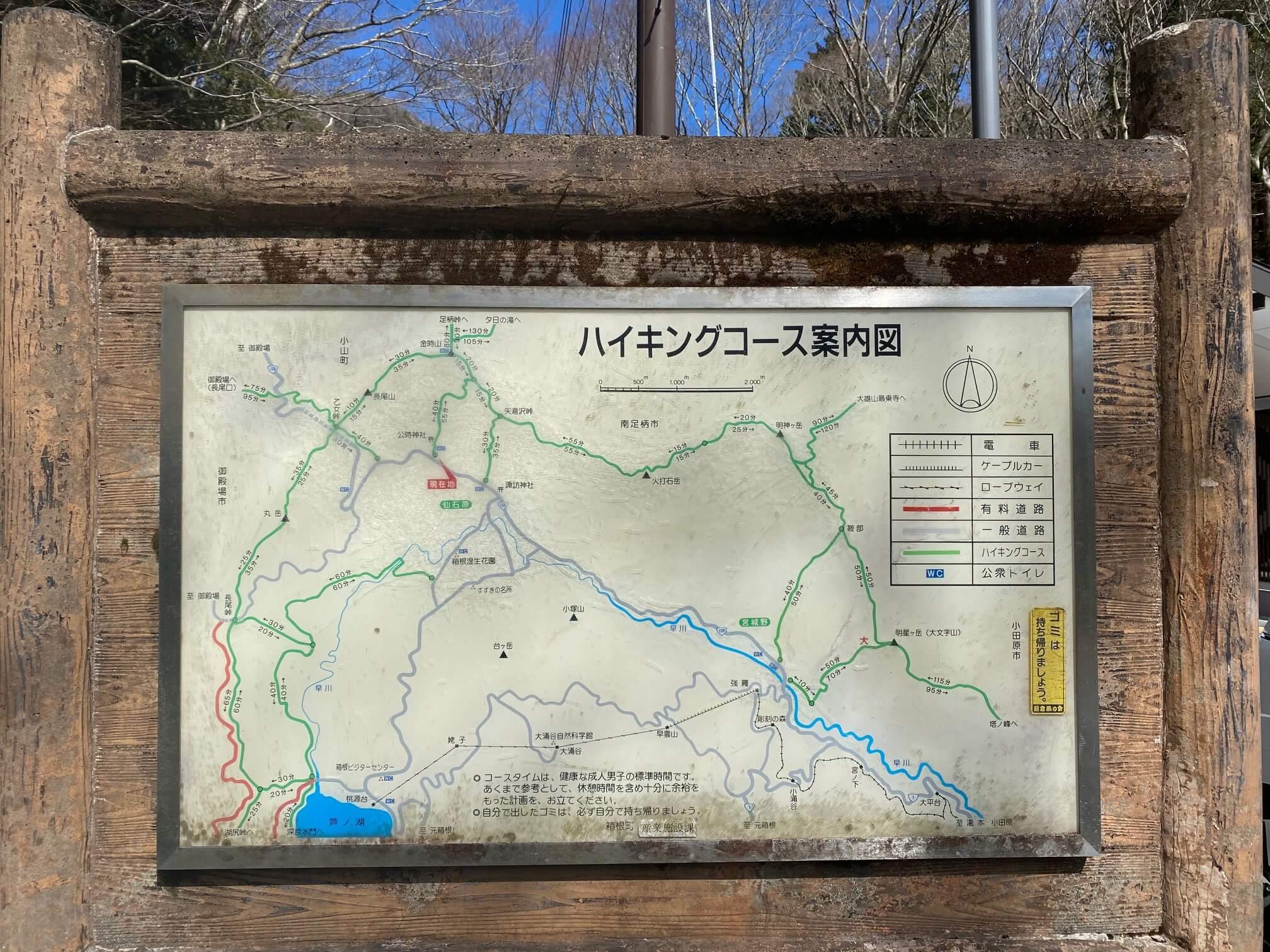 金時神社からハイキングコース