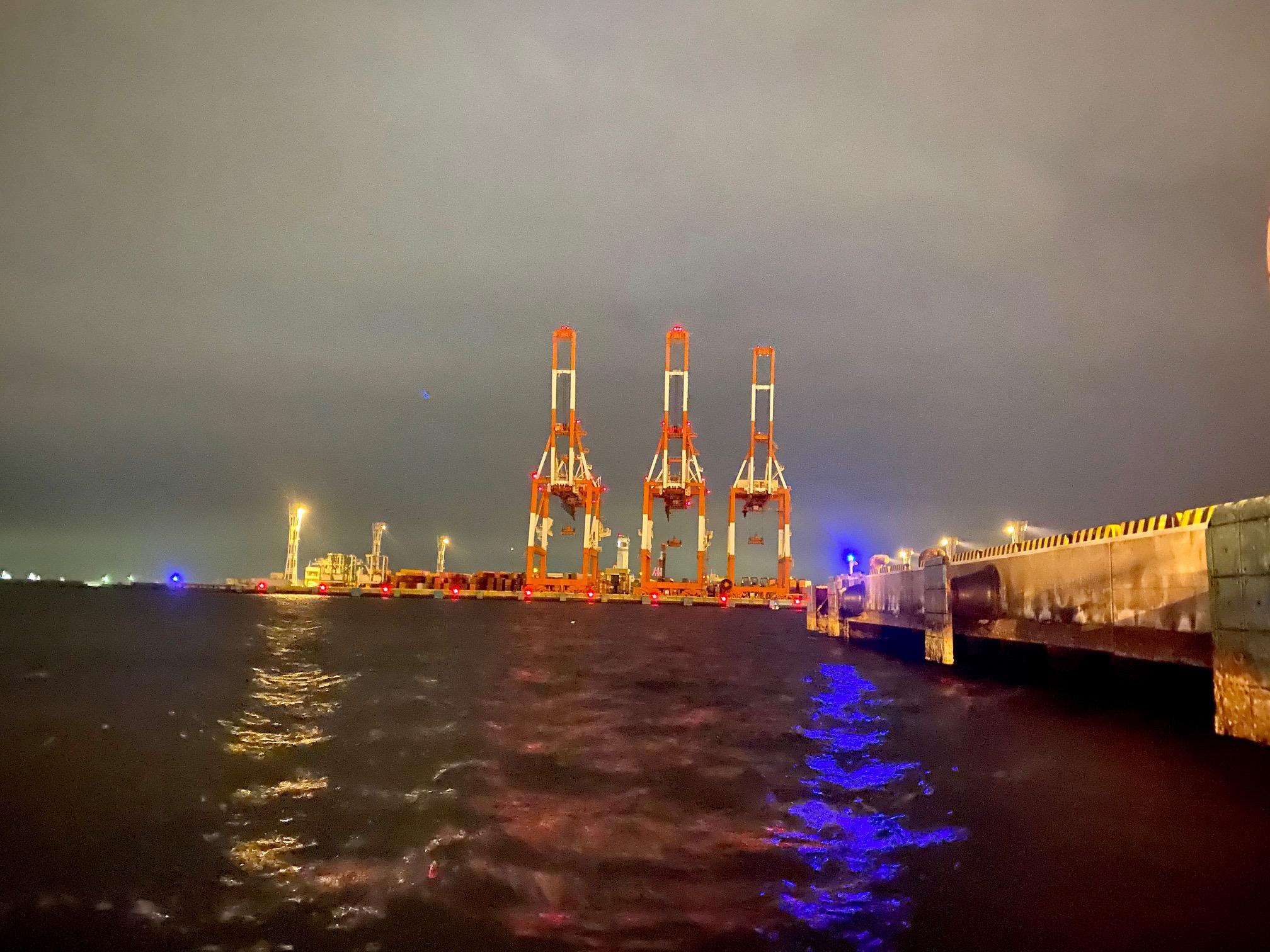 メバル釣りの夜景