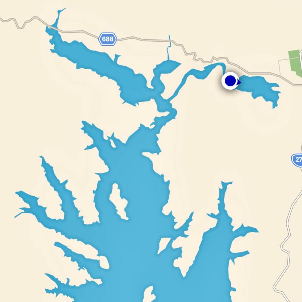 朱鞠内湖の地図