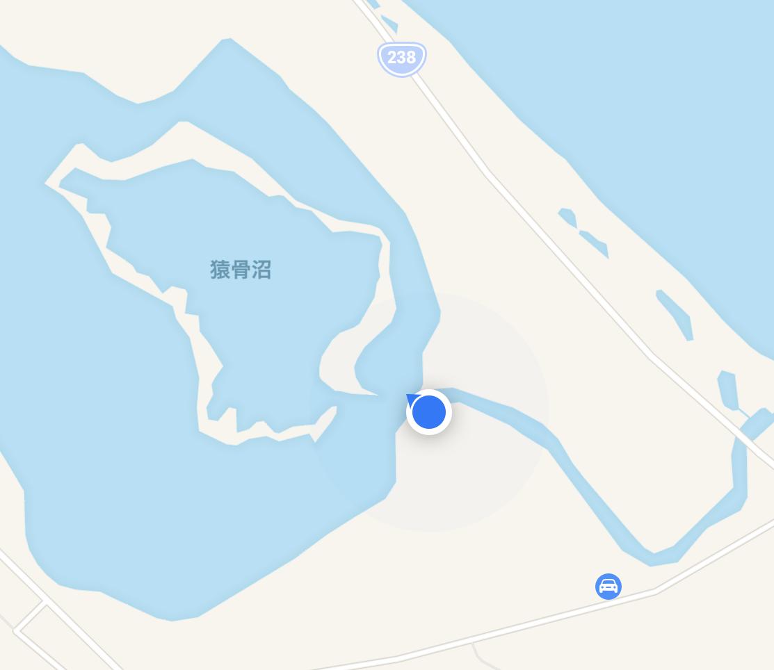 猿骨川ポイントマップ