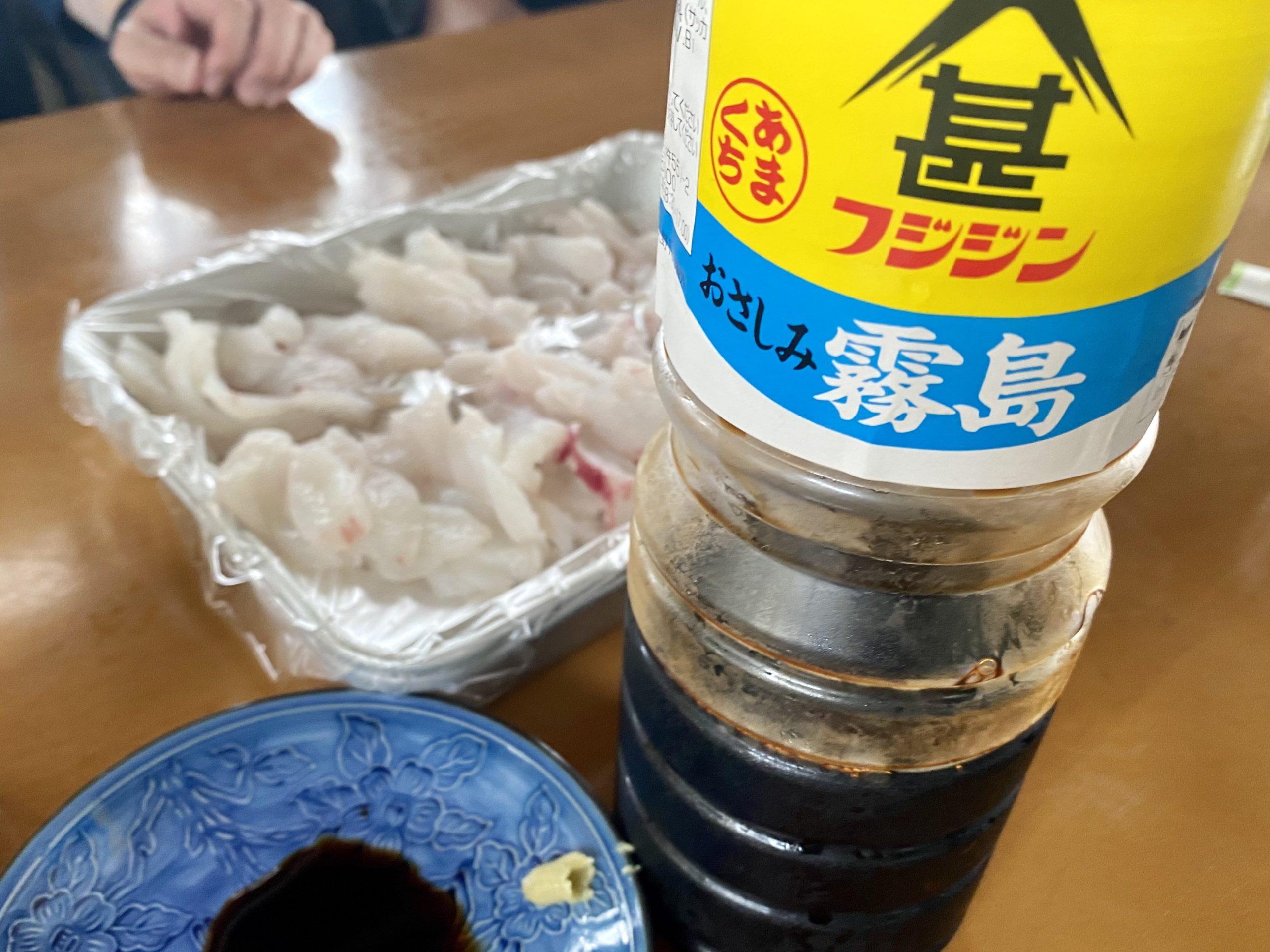 九州は甘口の刺身醤油ですねー