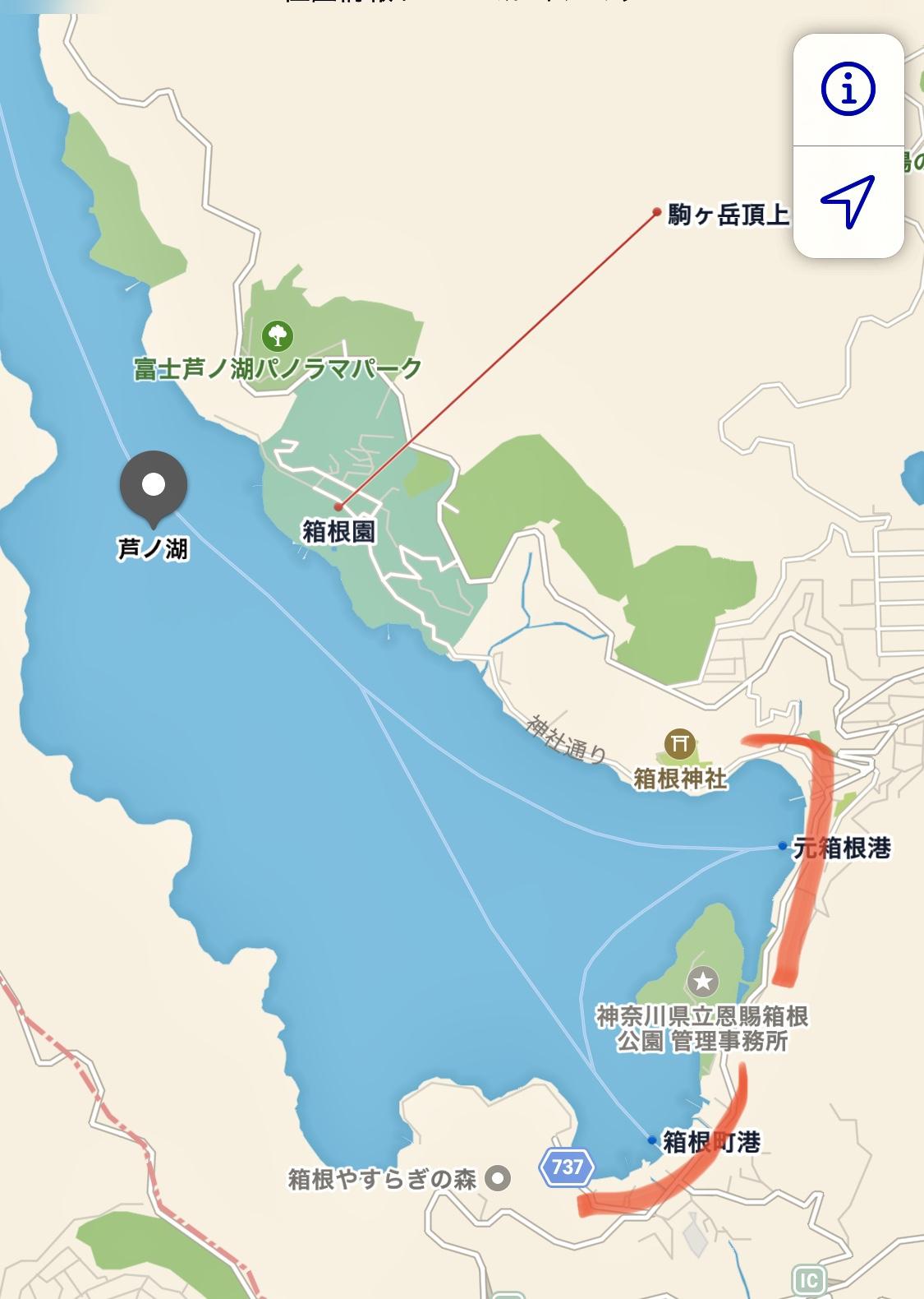 芦ノ湖おかっぱりポイント