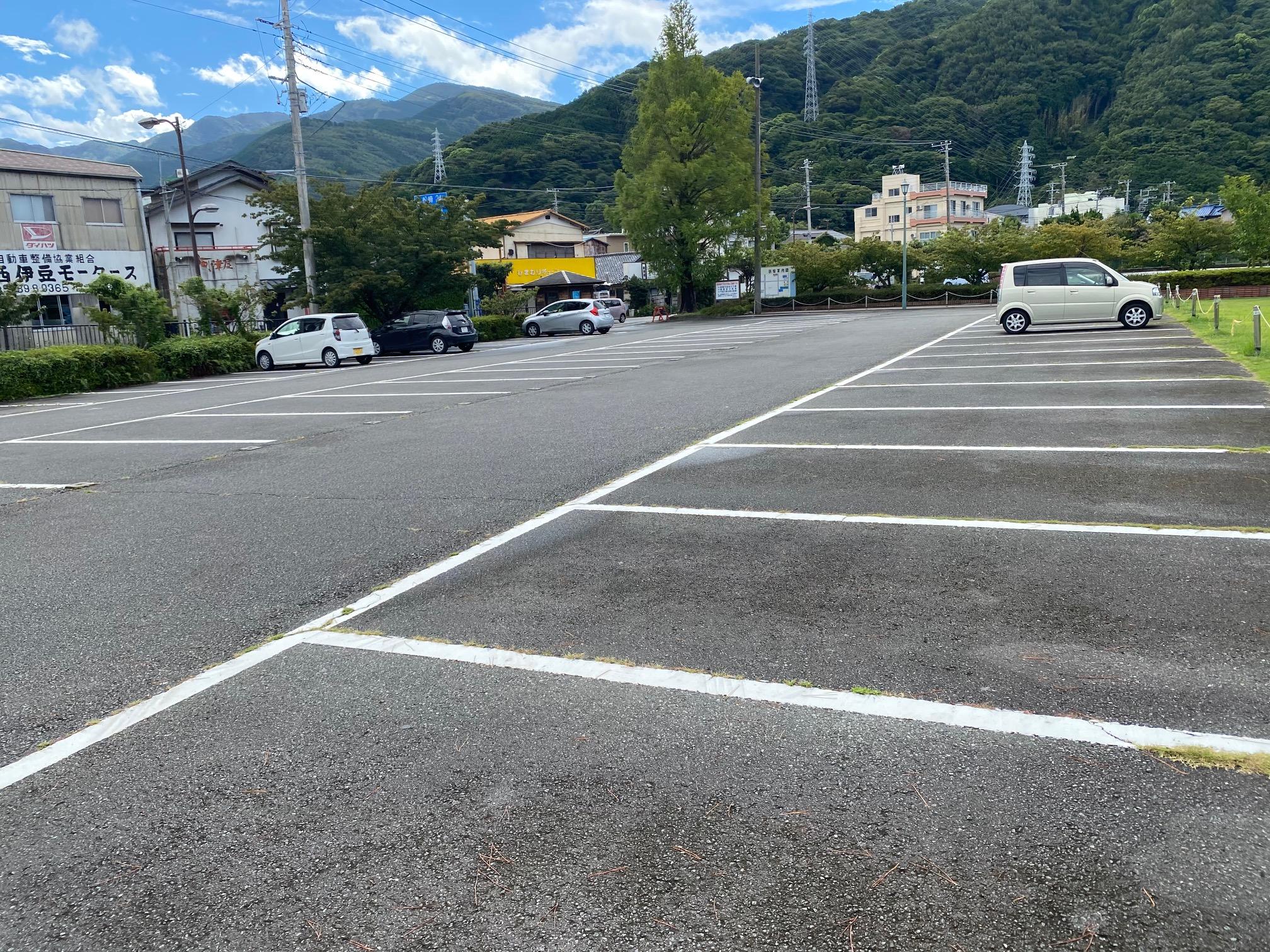 土肥温泉メッキ釣りの駐車場