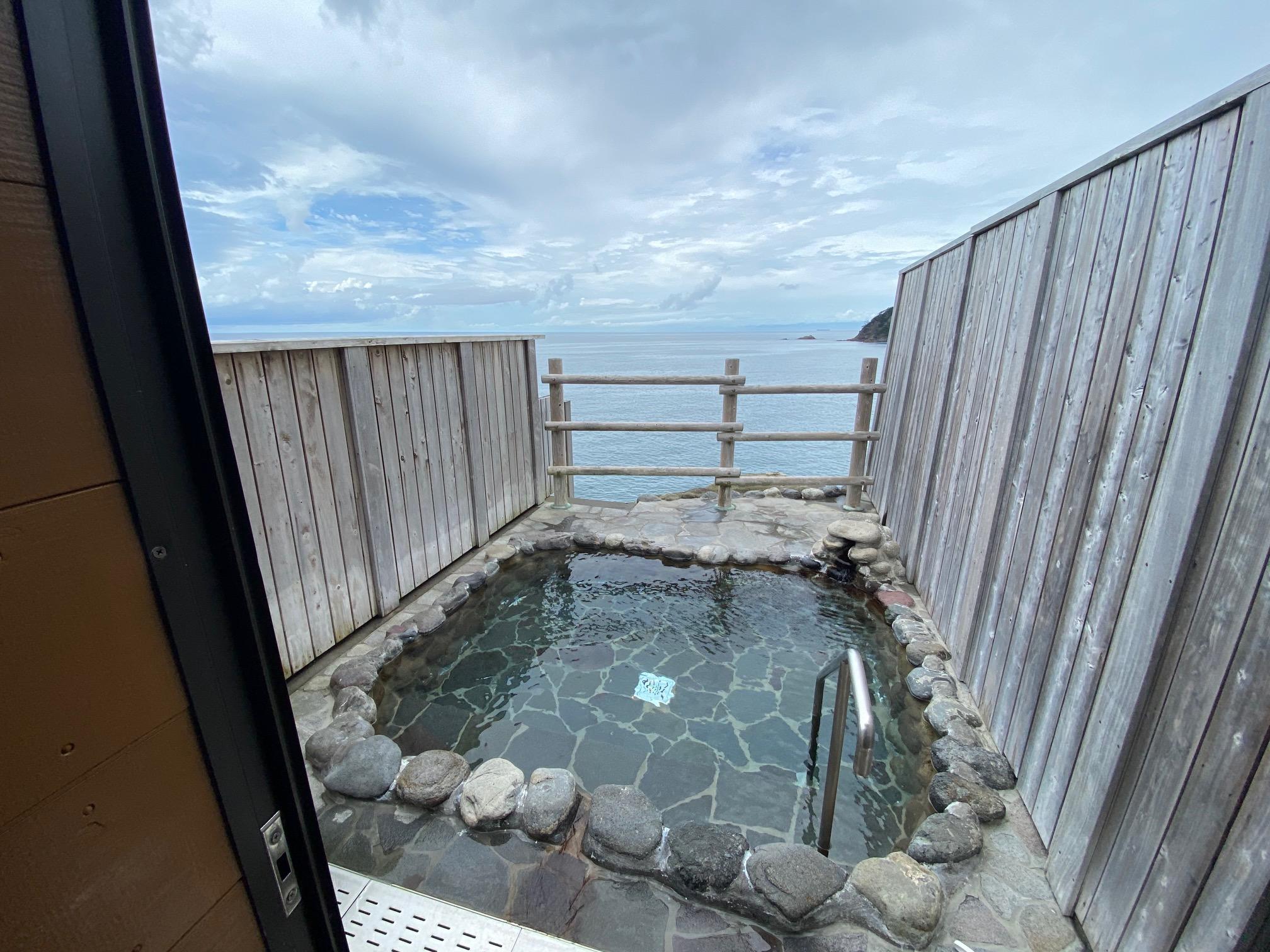 沢田公園露天風呂から駿河湾を望む