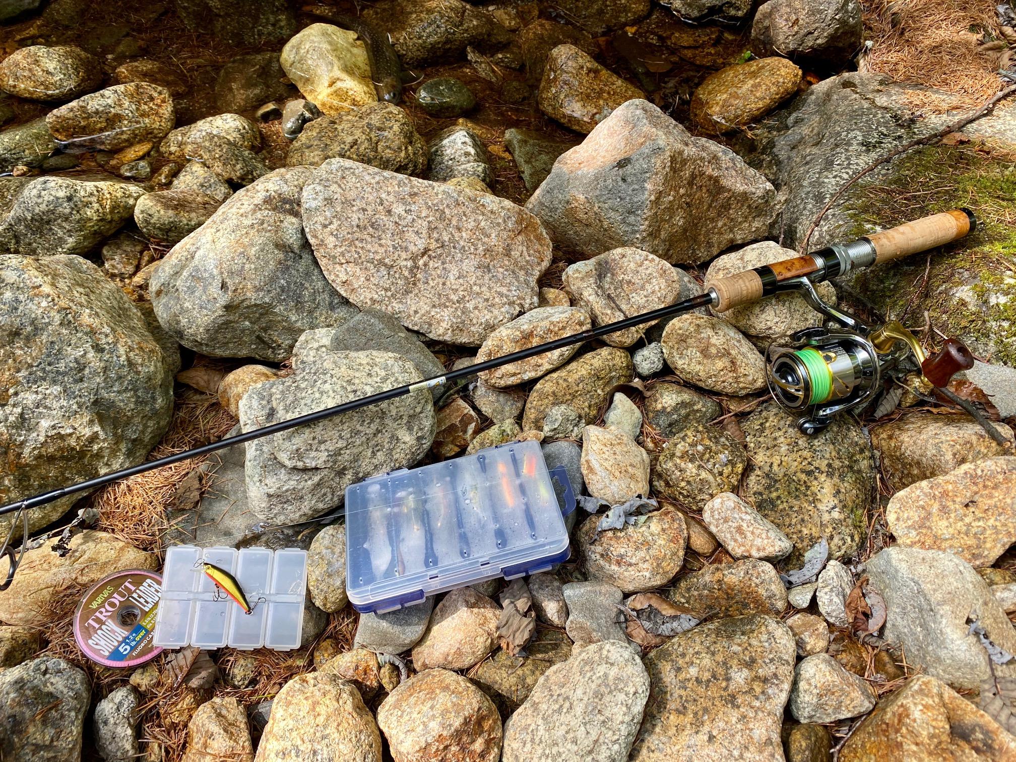 渓流釣行のタックル