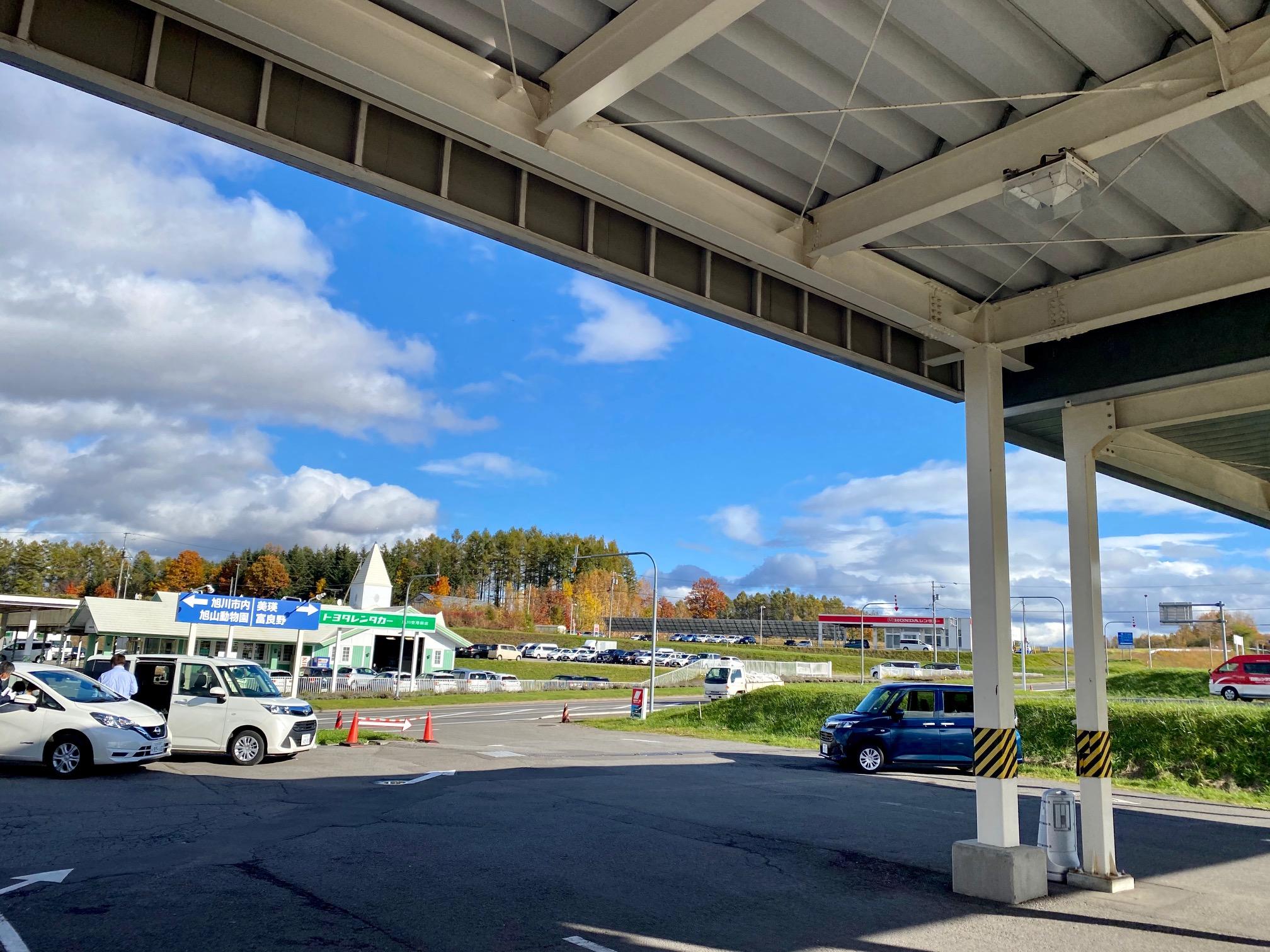旭川空港でレンタカー