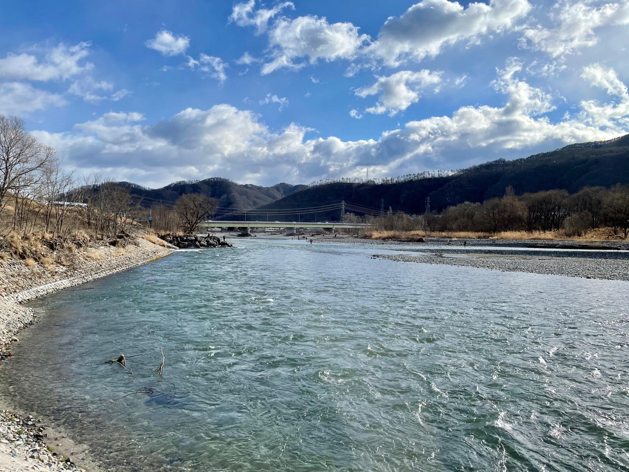 解禁直後の犀川の様子