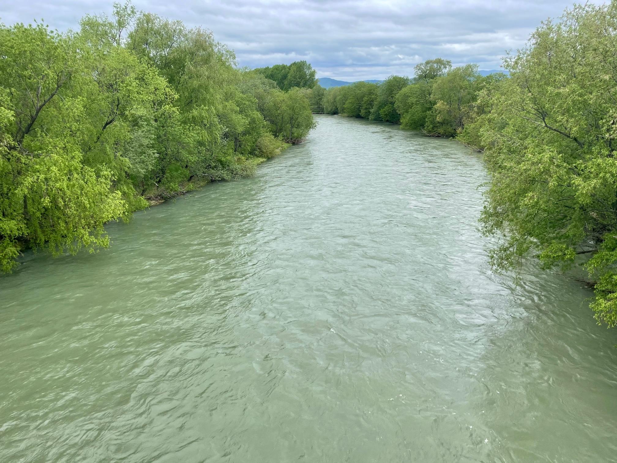 天塩川は濁りです