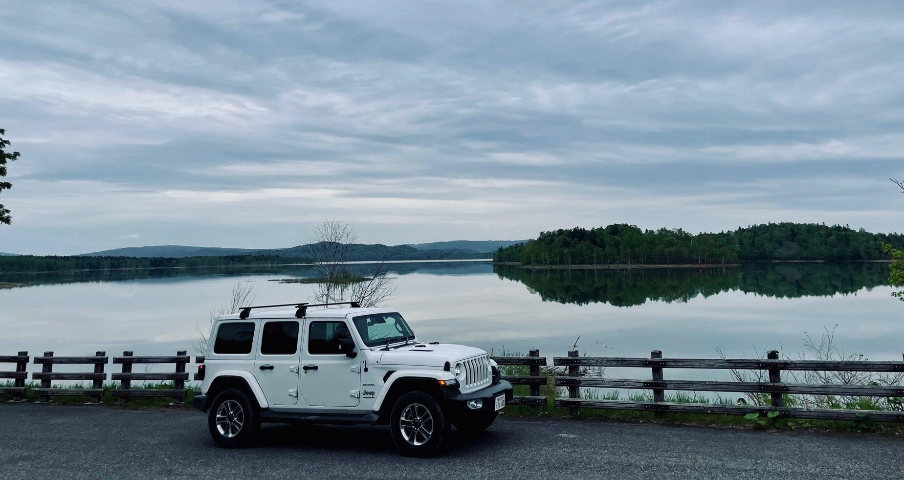 ラングラーで朱鞠内湖へドライブ