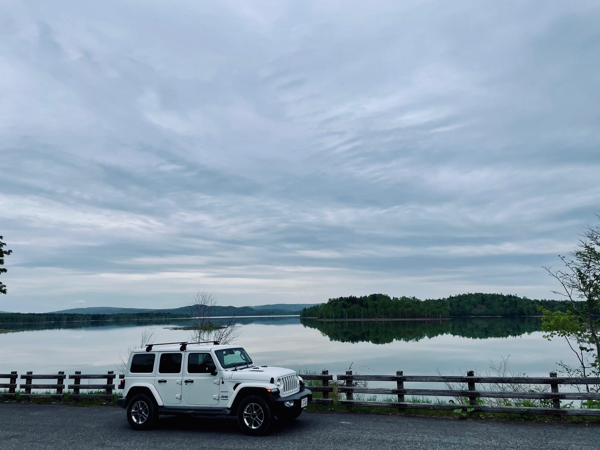 朱鞠内湖に到着