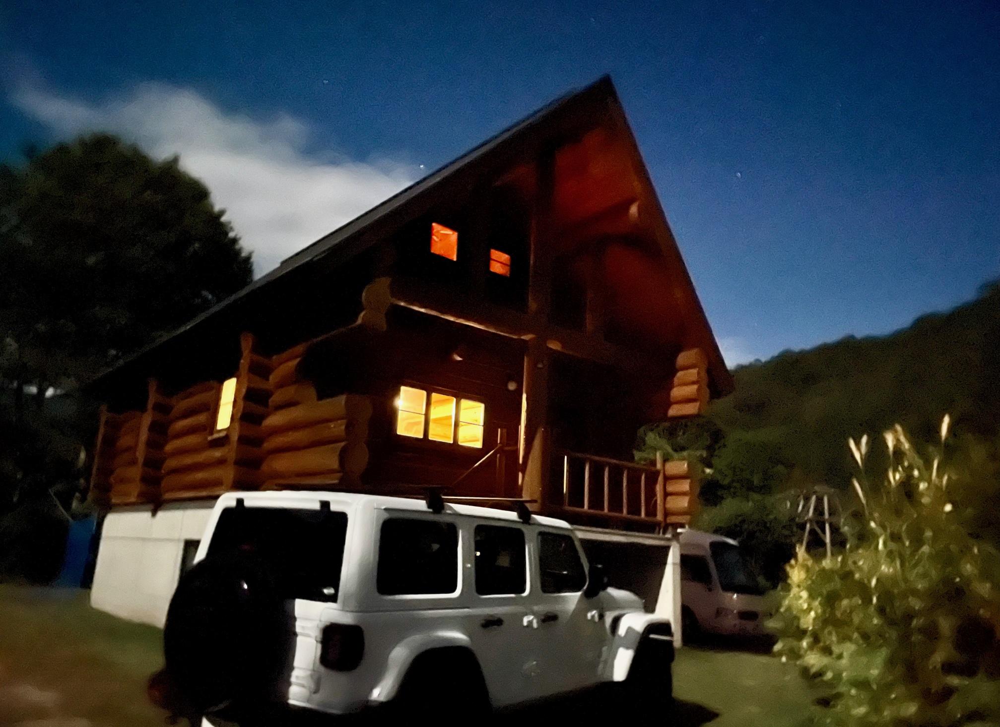 奥只見山荘のログハウス