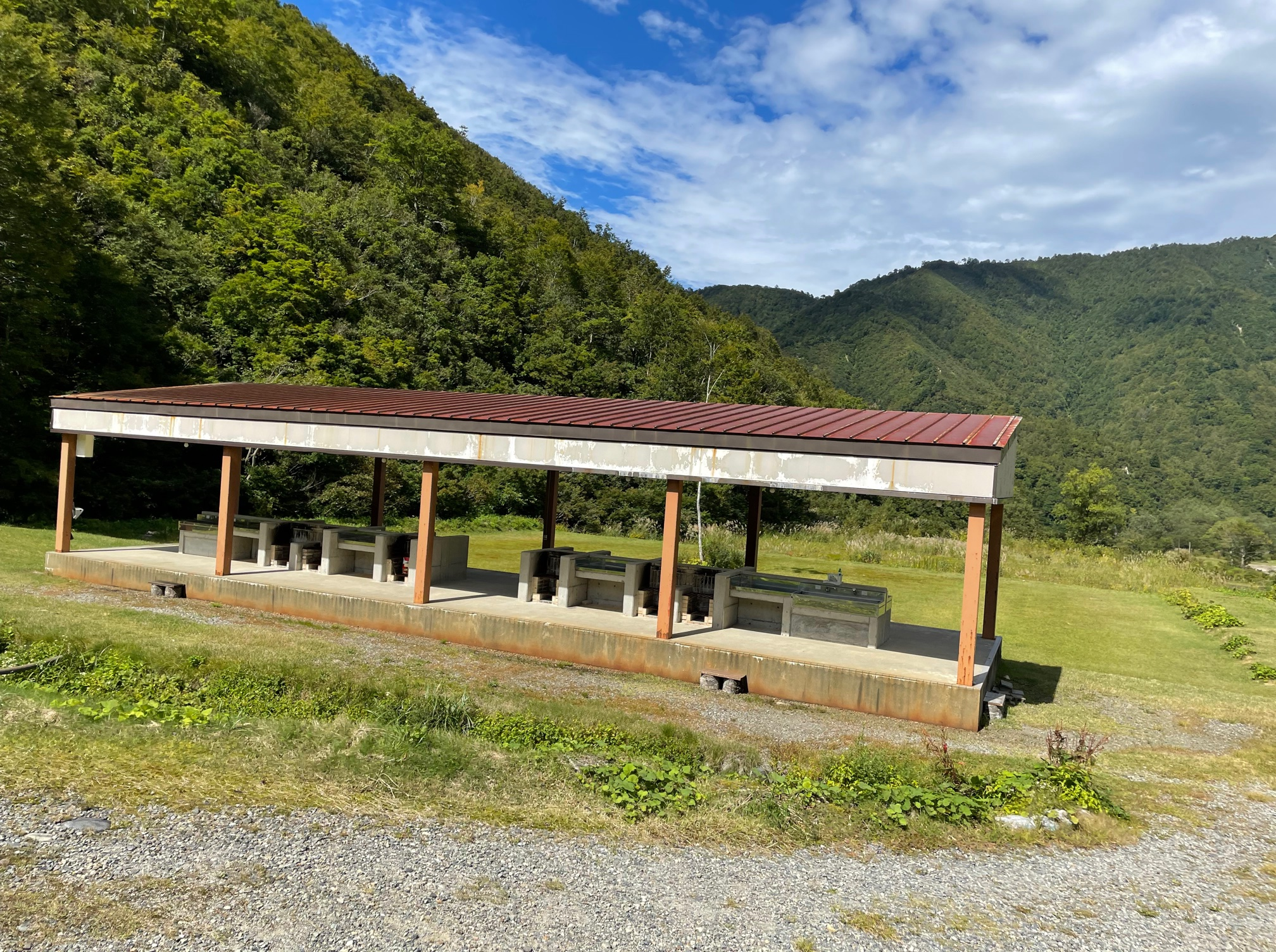 銀山平キャンプ場 炊事場